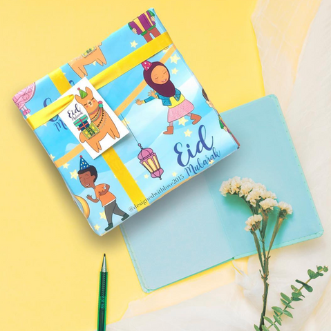 Llama Comes for Eid - Wrapping Paper