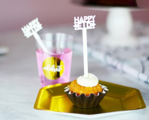 Acrylic Picks / Stirrers - Happy Eid