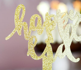 Acrylic Happy Eid Centerpiece / Cake Topper - Gold Glitter