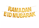 Ramadan and Eid 2-in-1 Glitter Banner