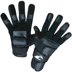 Gloves - HillBilly Wrist Guard Gloves - Black - Full Finger