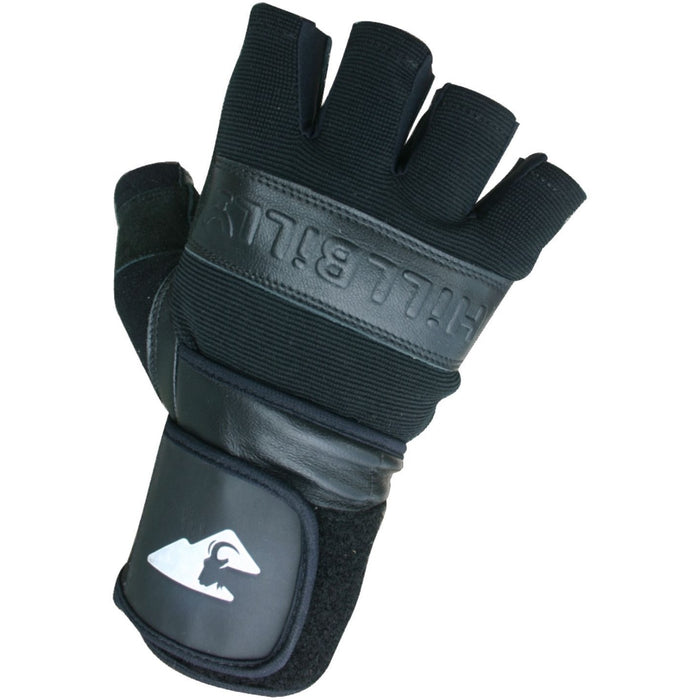 Gloves - HillBilly Wrist Guard Gloves - Black - Half Finger