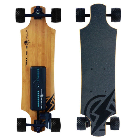 Off Road E-Board - Atom Electric B10X All-Terrain Longboard Skateboard - Combines The Best Qualities Of Other Electric Skateboards And Takes It Off-road