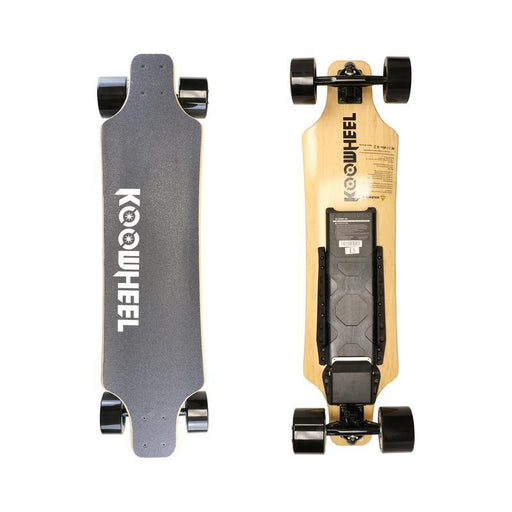 Street E-Board - KooWheel Gen 2 D3X Electric Skateboard - Maple Wood - Dual Brushless 350W Hub Motors - 18 To 20 Miles Range - 36V 5500mAH 198Wh Lithium-ion Battery - 24.8MPH - 2.4 GHz Wireless Remote
