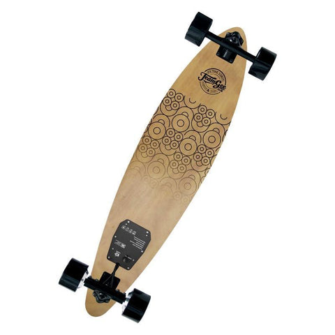 Street E-Board - TeamGee H6 Ultra Thin Premium Pintail Electric Skateboard - 700W Dual Hub Motor - 18.5MPH Speed - 10 Mile Range - 15-20 Degree Incline Rate - 36V Lithium Battery - 2.4GHz RF Wireless Remote