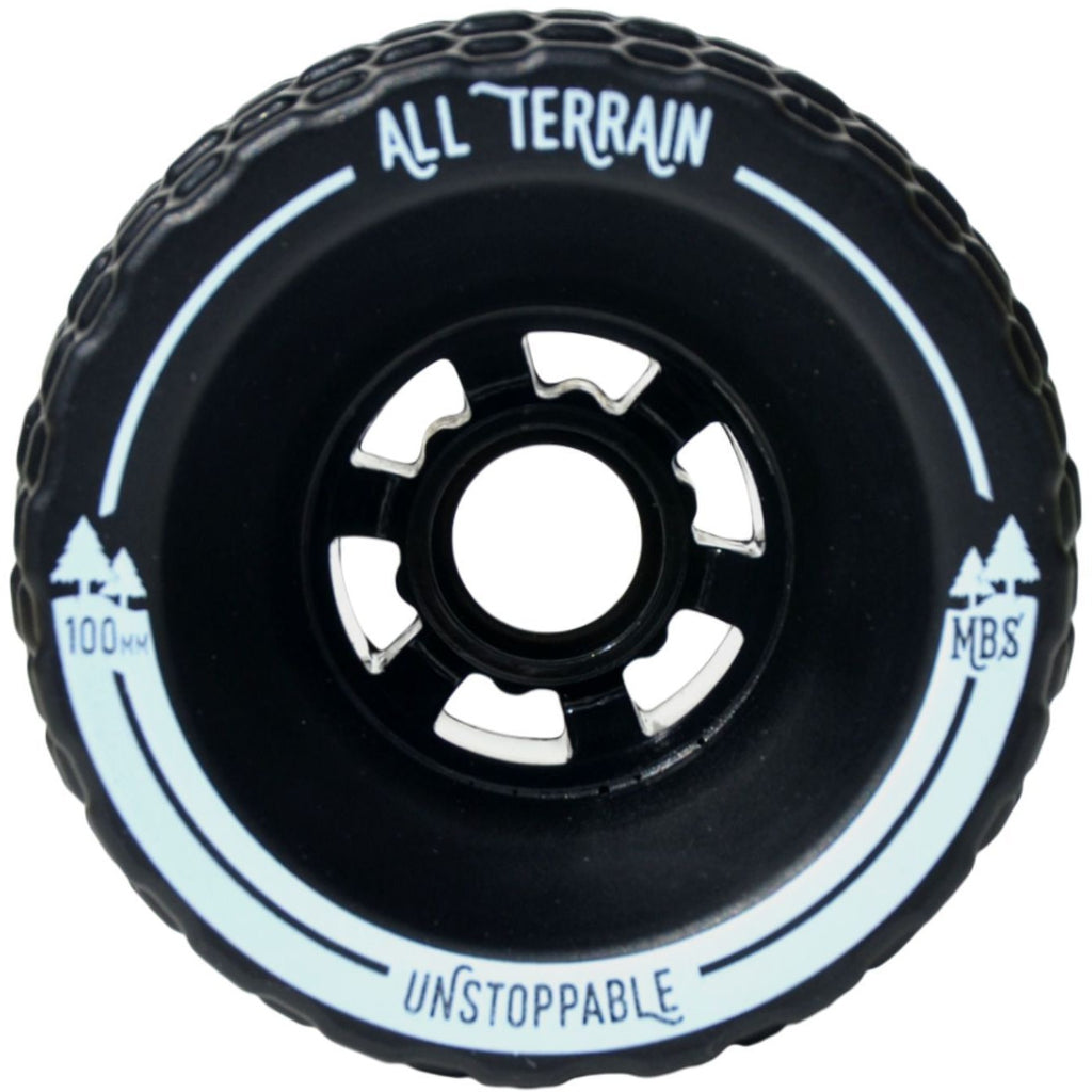 Wheels - MBS All-Terrain Longboard Wheels - Black (4)
