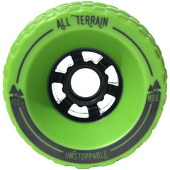 MBS All-Terrain Longboard Wheels - Green (4)