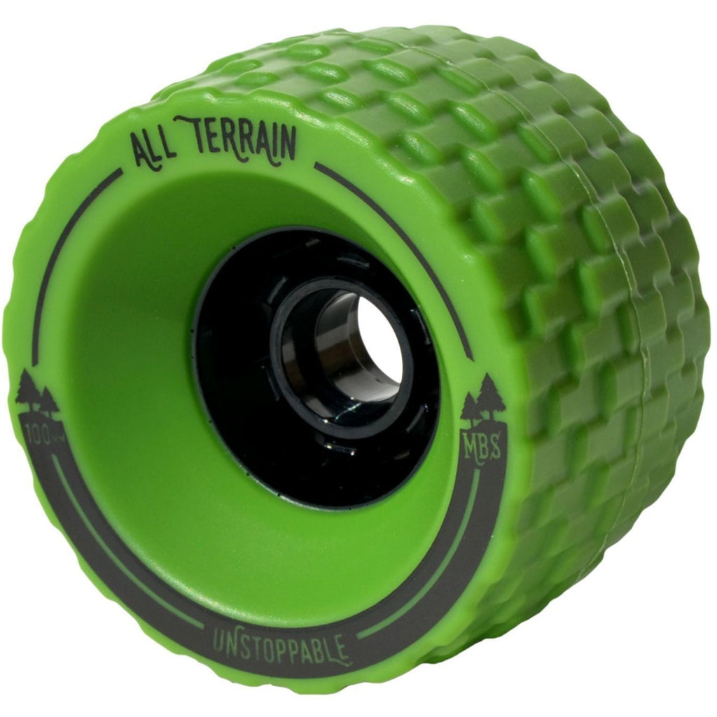 Wheels - MBS All-Terrain Longboard Wheels - Green (4)