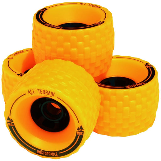 Wheels - MBS All-Terrain Longboard Wheels - Orange (4)