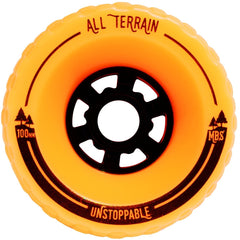 MBS All-Terrain Longboard Wheels - Orange (4)