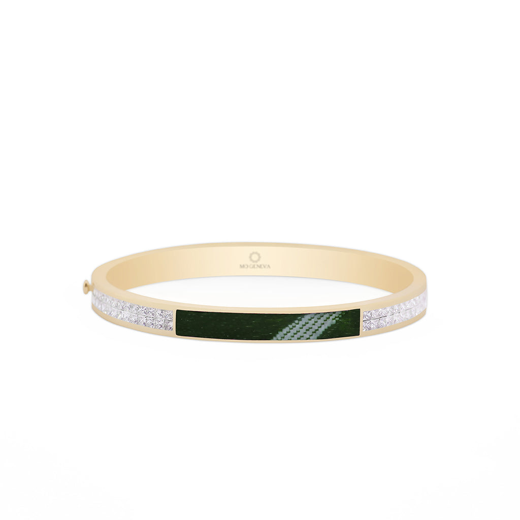 Bracelet Green Kiswa Princess Diamonds