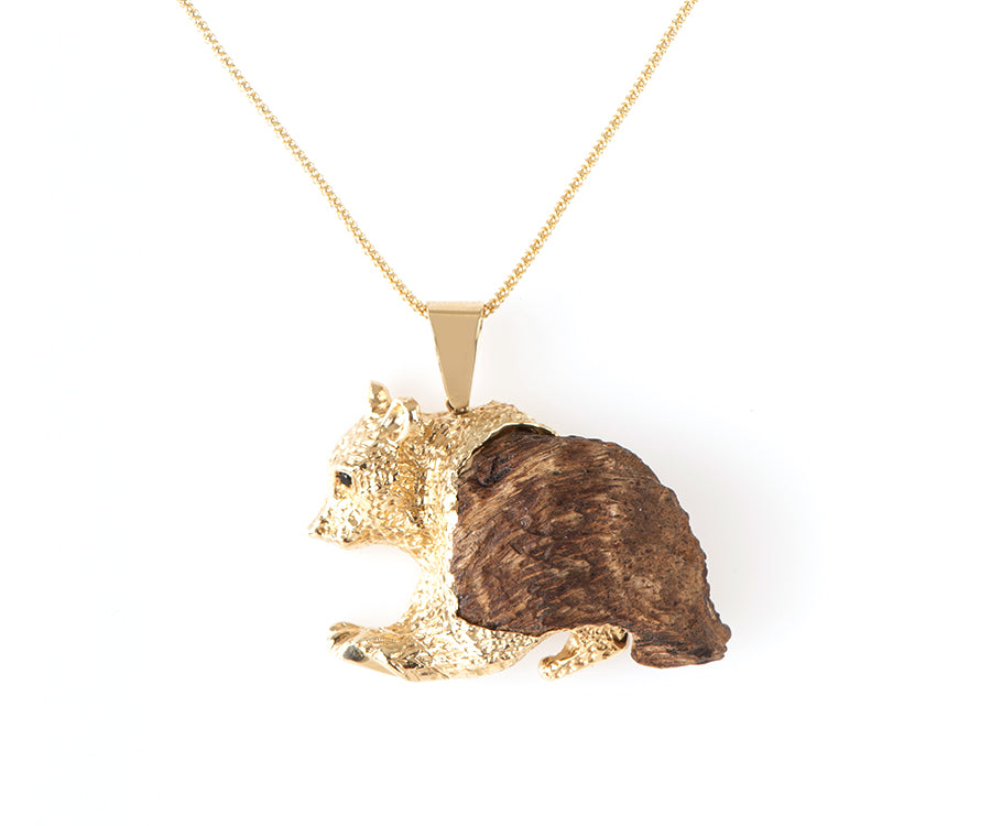 OUD PENDANT GRIZZLY BEAR