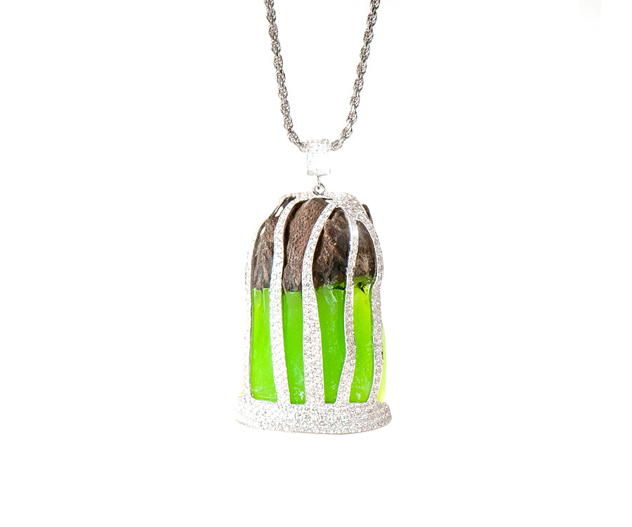 OUD PENDANT GREEN CAGE