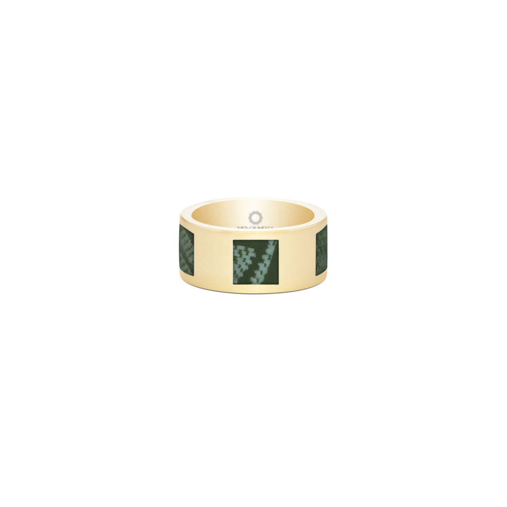 Silver Ring Green Kiswah