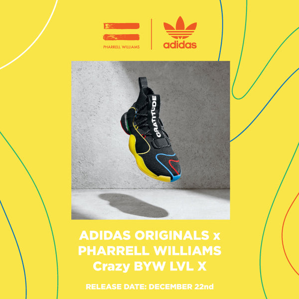 "purchase cheap 42ac4 89f6b Pharrell Williams and adidass long-standing partnership is set to launch a  new Crazy BYW X ""Gratitude Empathy"" colorway for the end of the year."