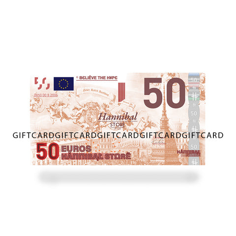 HANNIBAL STORE GIFT CASH CARDS 50