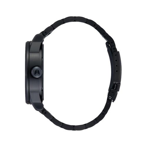 NIXON SENTRY SS 42 MM ALL BLACK / SILVER LUM