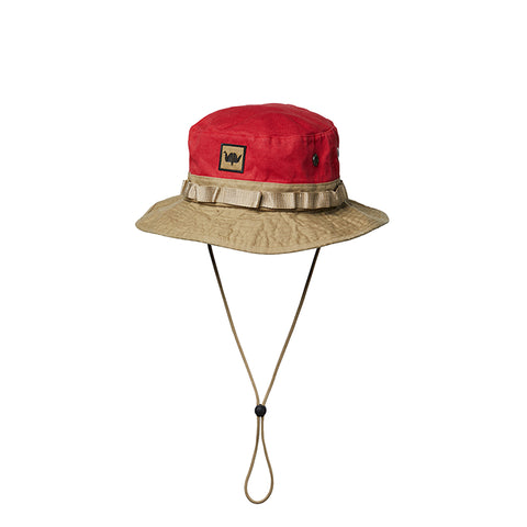 LIBERAIDERS WASHED CANVAS JUNGLE HAT RED