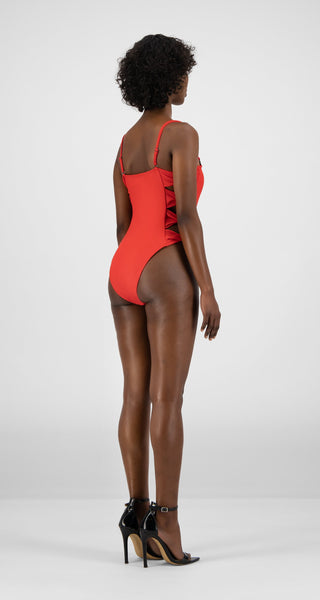 DAILY PAPER KEEVA SWIMSUIT RED