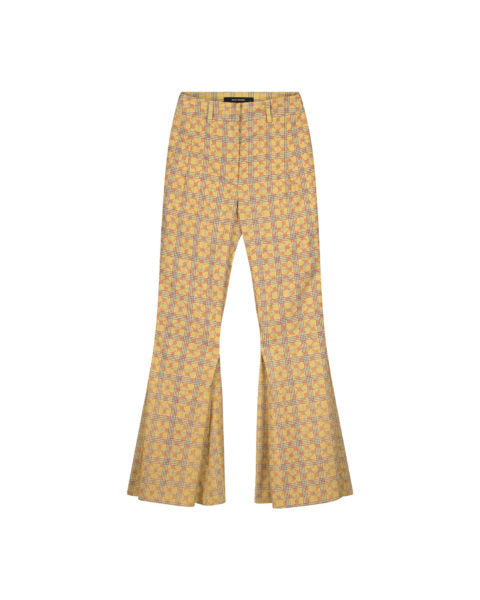 DAILY PAPER YELLOW CHECK KACY PANTS
