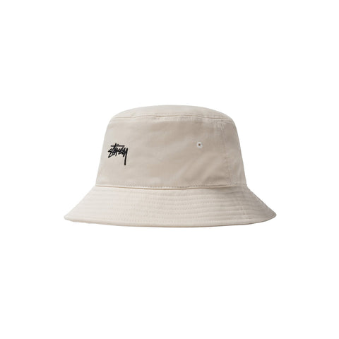 STUSSY STOCK BUCKET HAT NATURAL