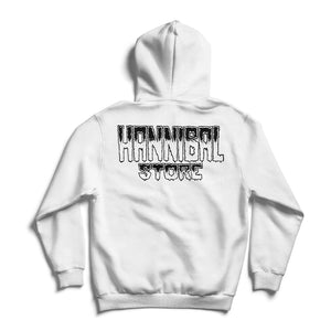 HANNIBAL STORE DESTROY HOODIE WHITE