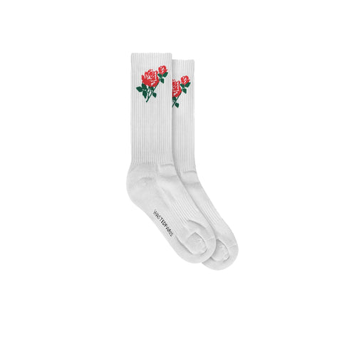 WASTED PARIS PIECE OF MIND SOCKS WHITE