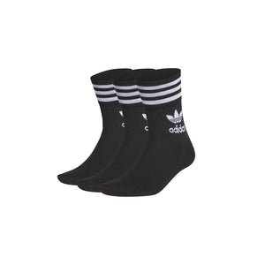 ADIDAS MID CUT SOCKS BLACK (3 PAIA)