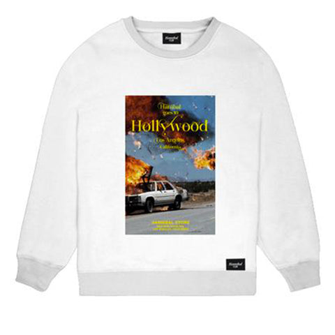 HANNIBAL BURNING CAR CREWNECK WHITE