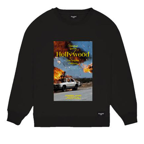HANNIBAL BURNING CAR CREWNECK BLACK