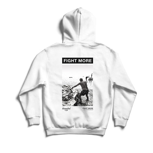 HANNIBAL FIGHT MORE HOODIE WHITE