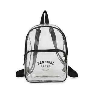 HANNIBAL SMALL SEE THRU BACKPACK BLACK