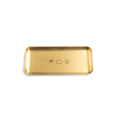 MISTER GREEN LOGO ROLLING TRAY GOLD