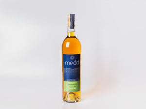 Gylfinir 750ml medium dry Welsh mead in glass bottle with cork closure