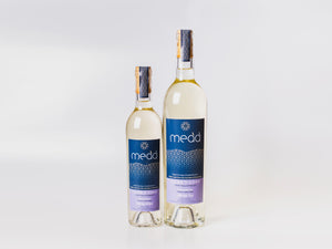 Two bottles of Telor Y Coed medium sweet Welsh mead, 750ml and 375ml