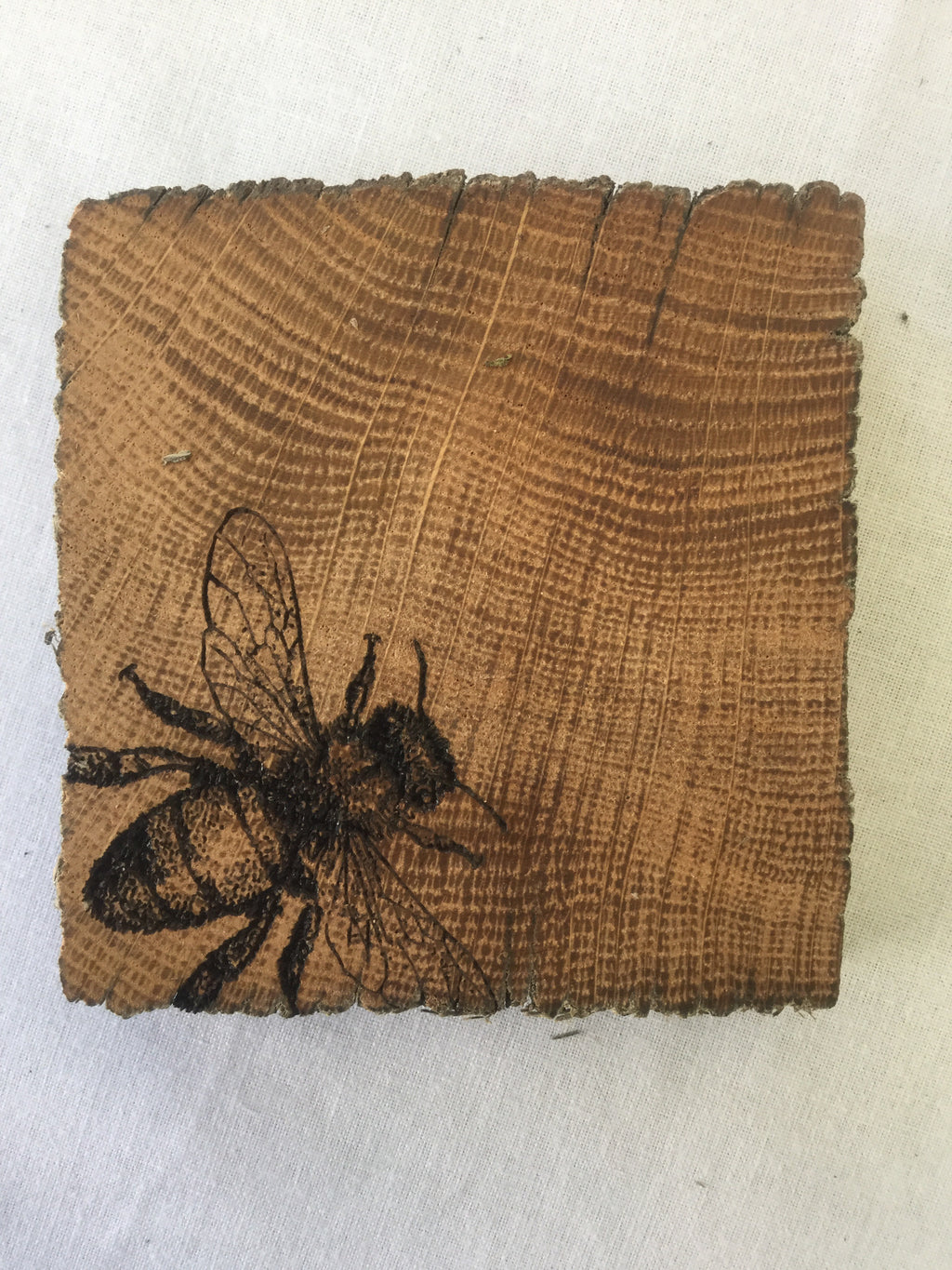 Rustic Oak Bee Coaster