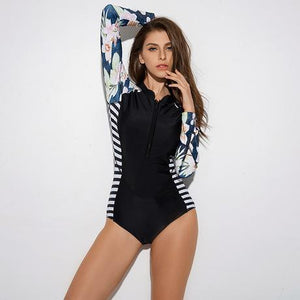Tropicool Black Surfing Swimsuit