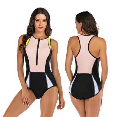 Asymmetric One Piece Swimsuit - PeacefulEnergy