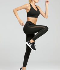 Active Mesh Panel Zip Detail Leggings