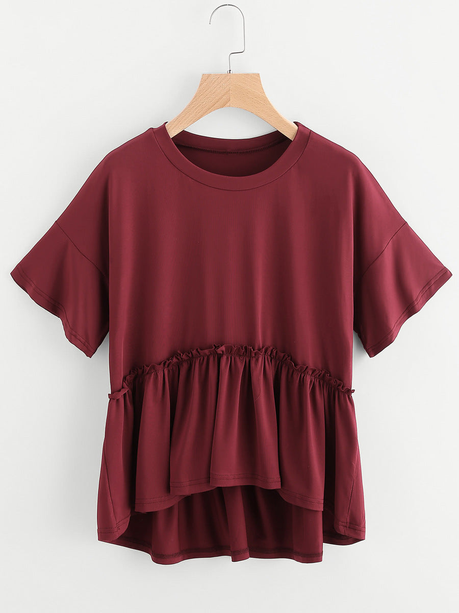 Ruffle Loose Top - PeacefulEnergy