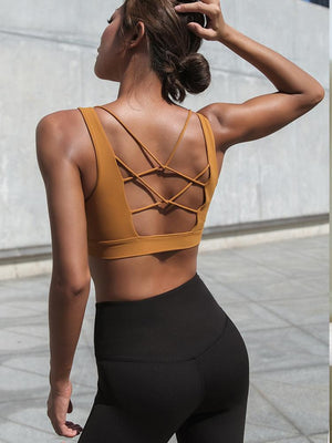Ultimate Strappy-Back Sports Bra - PeacefulEnergy