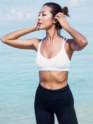 High-performance Strappy Back Sports Bra - PeacefulEnergy