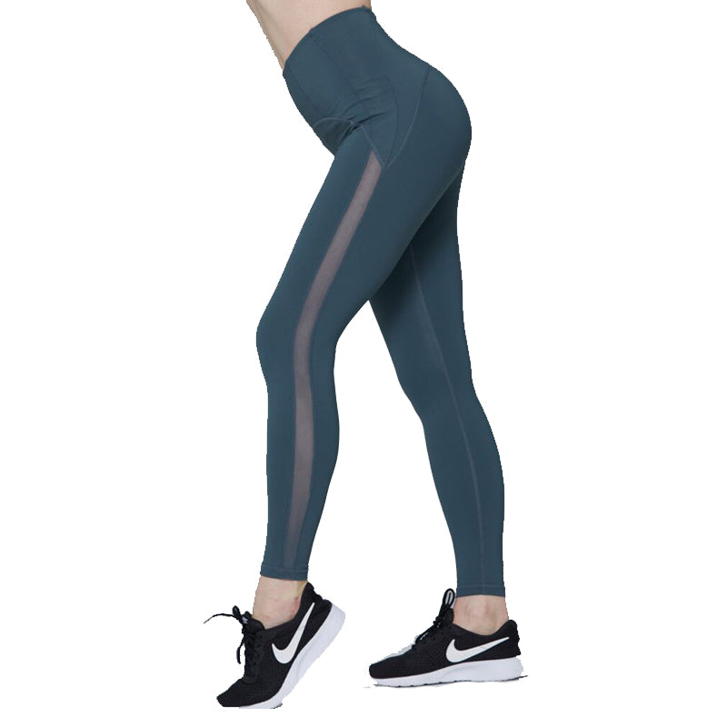 High-waisted Tight Mesh Leggings