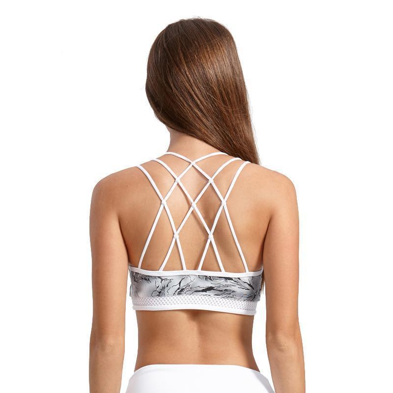 Push Up Printed Sports Bra - PeacefulEnergy