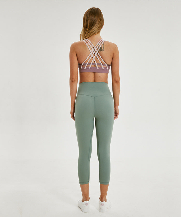 Criss-cross Band Sports Bra - PeacefulEnergy