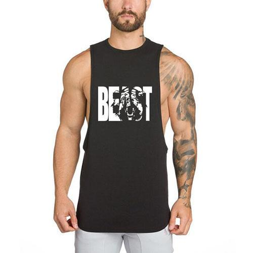 Men's Muscle Gym Workout Stringer Tank Tops Bodybuilding Fitness T-Shirts - PeacefulEnergy