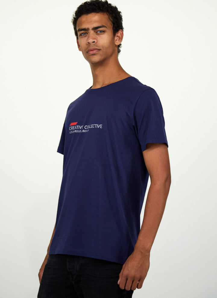 Creative Collective T-shirt Navy Silver