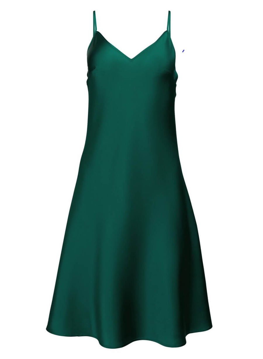 LA_B Silk Dress green