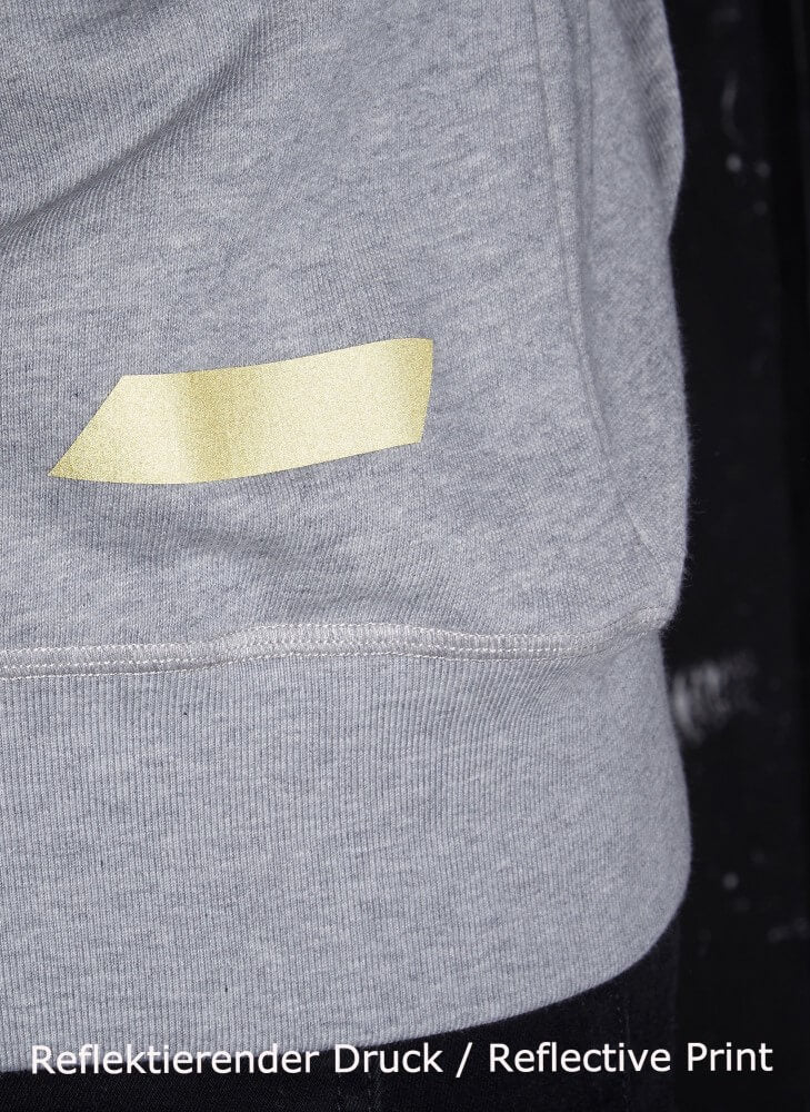 LA_B Logo Stripe Hoodie heather grey gold men