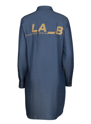 LA_B Denim Shirt Dress blue